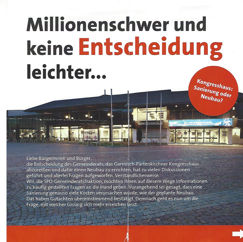 Flyer der SPD - Vorderseite